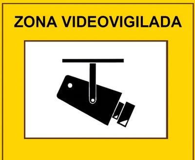 Cartel de Zona Videovigilada