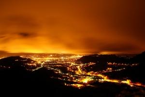 Valencia de noche. Vía David Huerta.