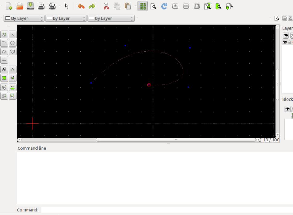 Spline en LibreCAD